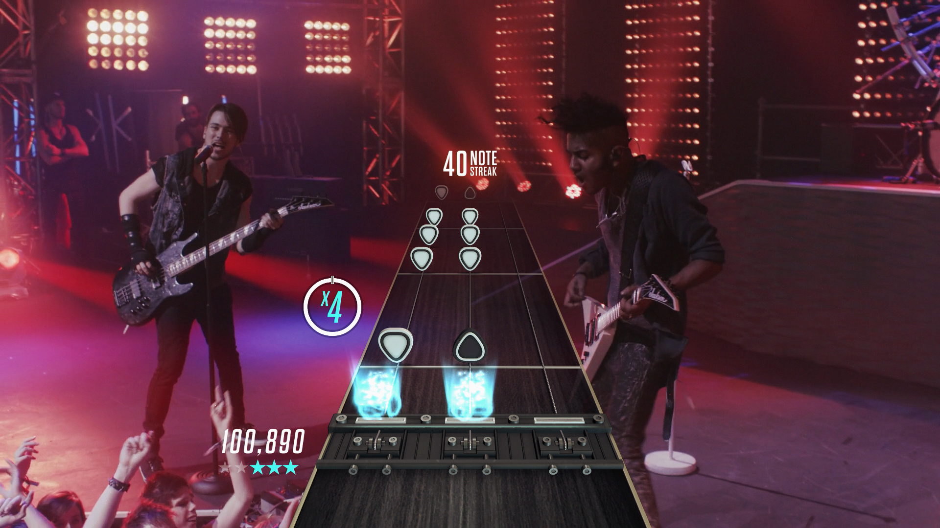 Guitar Hero Live note track